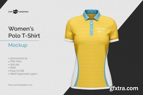 CreativeMarket - Women's Polo T-Shirt Mockup 5828222