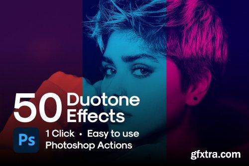 CreativeMarket - 50 Duotone Photoshop Actions 6234691
