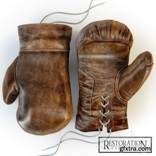 Restoration Hardware, Vintage Leather Boxing Gloves