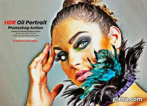 CreativeMarket - HDR Oil Portrait Photoshop Action 5980848