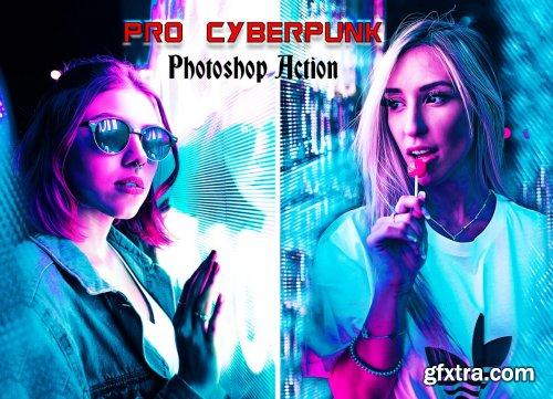 CreativeMarket - Pro Cyberpunk Photoshop Action 6215870