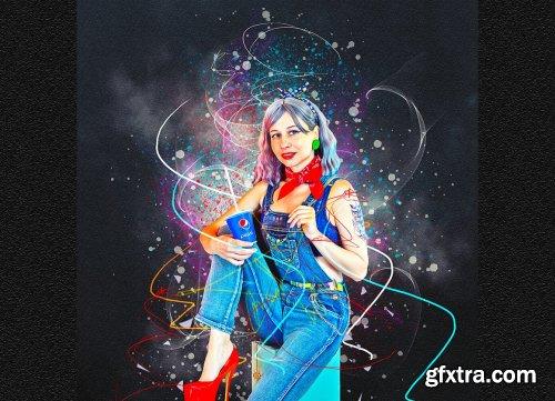 CreativeMarket - Plasma Effect Photoshop Action 6199474