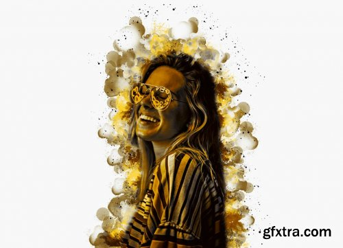 CreativeMarket - Watercolor Portrait PS Action V-2 6143547