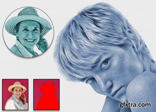 CreativeMarket - Engrave Photoshop Action 6213360