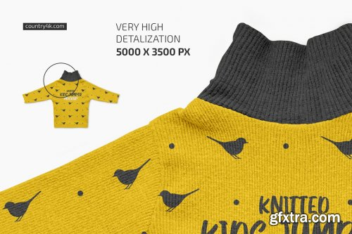 CreativeMarket - Knitted Kids Jumper Mockup Set 6222831