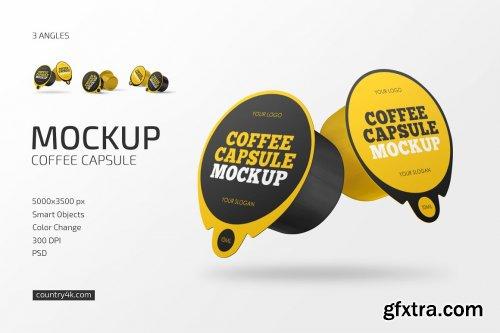 CreativeMarket - Coffee Capsule Mockup Set 6236261