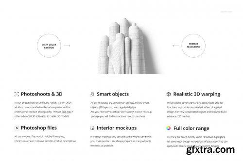 CreativeMarket - Fabric Rolls Mockup Set (14/FFv.11) 6225567