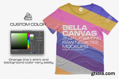 CreativeMarket - Bella Canvas 3414C Triblend Mockups 6216347