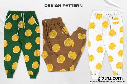 CreativeMarket - Realistic Sweatpants Mockup 6216983