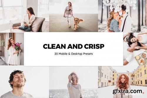 CreativeMarket - 20 Clean and Crisp Lightroom Presets & LUTs 6275784