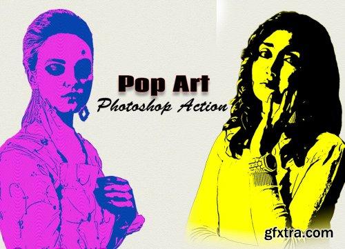 CreativeMarket - Pop Art Photoshop Action 6320373