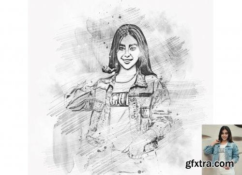 CreativeMarket - Smudged Sketch Photoshop Action 6322983