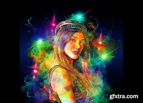 CreativeMarket - Glow Watercolor Photoshop Action 6309021