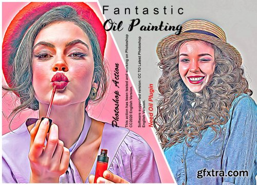CreativeMarket - Fantastic Oil Painting PS Action 6311957