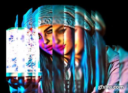CreativeMarket - Prism Effect Photoshop Action 6286761