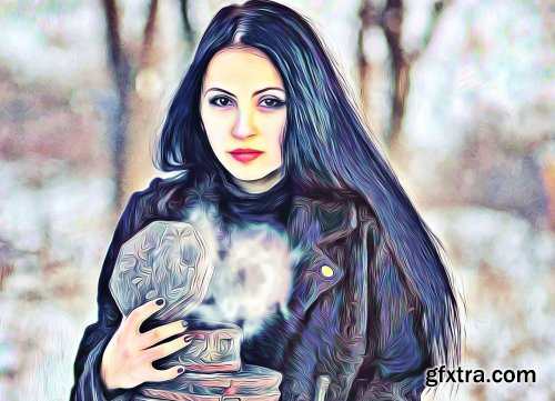 CreativeMarket - Popular Oil Paint Photoshop Action 6278773