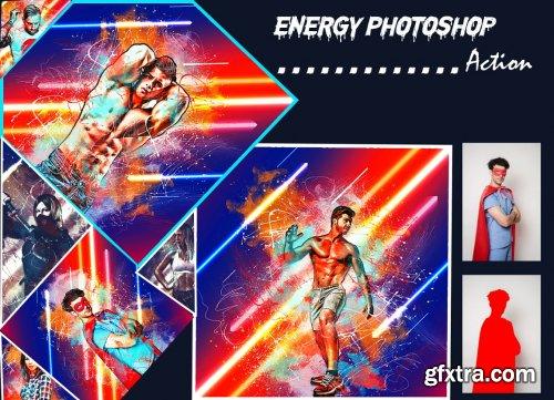 CreativeMarket - Energy Photoshop Action 6281215