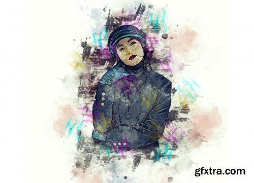 CreativeMarket - Watercolor Photoshop Action V-3 6255564