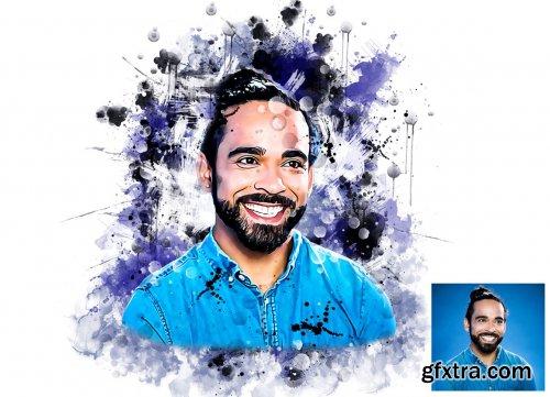 CreativeMarket - Ink Watercolor Photoshop Action 6294791