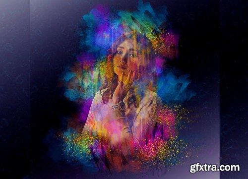CreativeMarket - Original Watercolor Photoshop Action 6232498