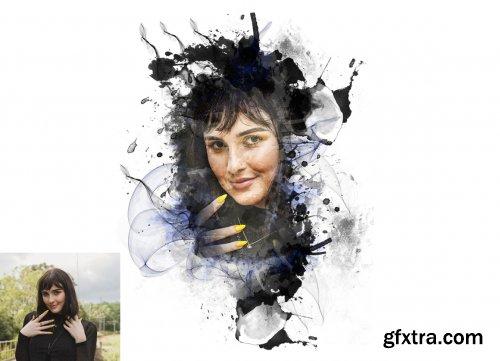 CreativeMarket - Ink Paint Effect Photoshop Action 6240910