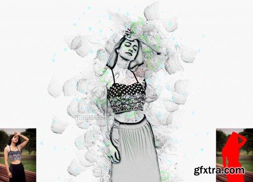 CreativeMarket - Advance Sketch Photoshop Action 5956234