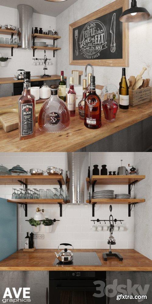 AVE Kitchen bar volume