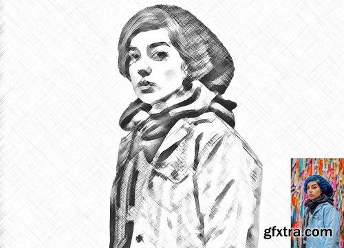 CreativeMarket - Digital Pencil Sketch PS Action 6284365