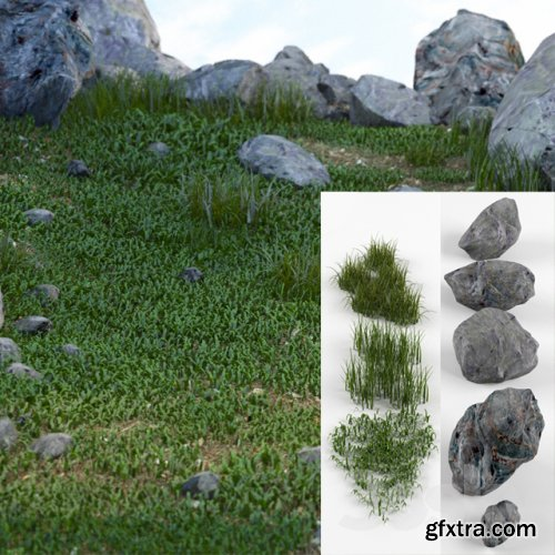 Grass and stones SRG