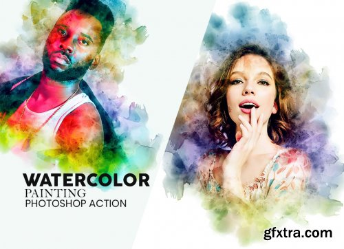 CreativeMarket - Watercolor Painting Photoshop Action 5836681