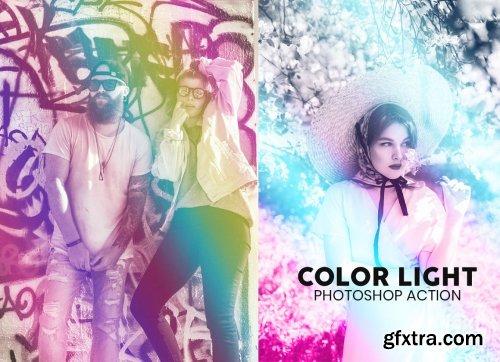 CreativeMarket - Color Light Photoshop Action 5848132