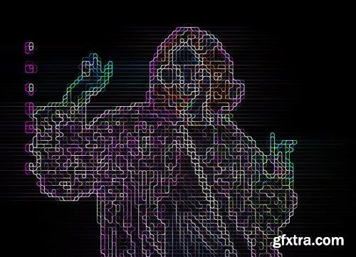 CreativeMarket - Sci-fi Digital Portrait PS Action 5904897