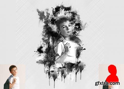 CreativeMarket - Grunge Ink Photoshop Action 5946063