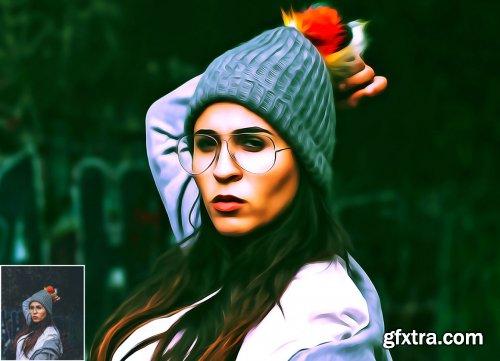 CreativeMarket - Pure Oil Portrait Photoshop Action 5360743
