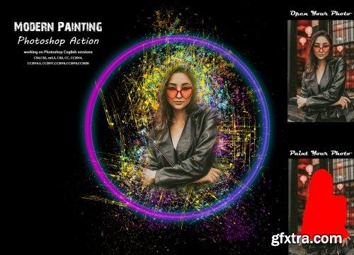 CreativeMarket - Modern Painting Photoshop Action 5383121