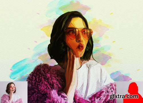 CreativeMarket - Advance Oil Paint Photoshop Action 5740242