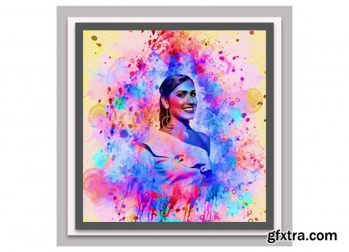 CreativeMarket - Modern Watercolor Photoshop Action 5741401