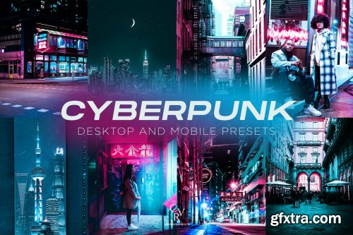 CreativeMarket - 6 Cyberpunk Lightroom Presets 6306759