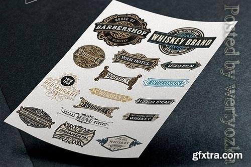 Vector of 16 logos and badges