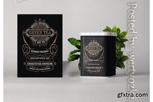 Vintage tea label