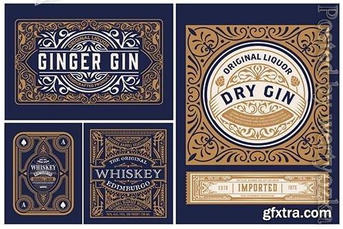 Set of 4 Vintage Packing Labels