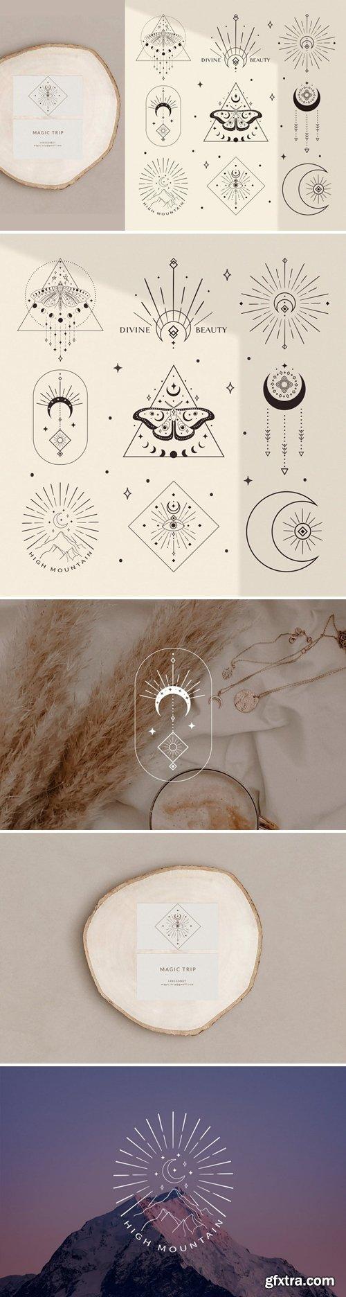 Divine Beauty Esoteric Mystic Illustrations. Stars
