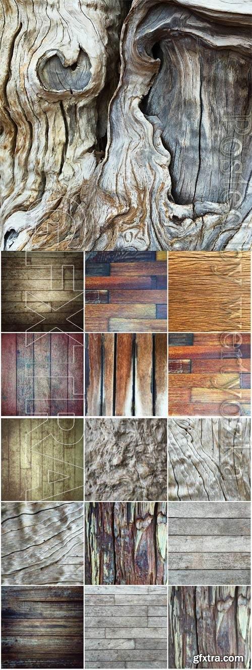 Various wood texture stock photo