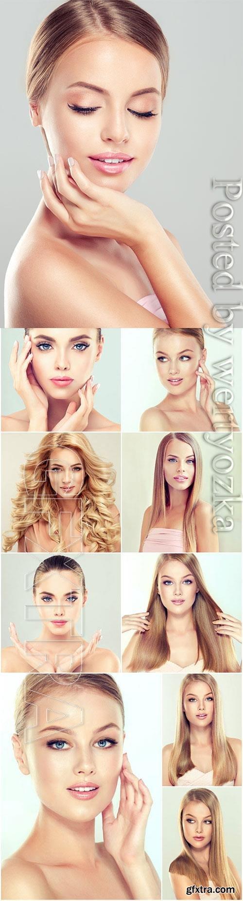 Well-groomed pretty girls stock photo