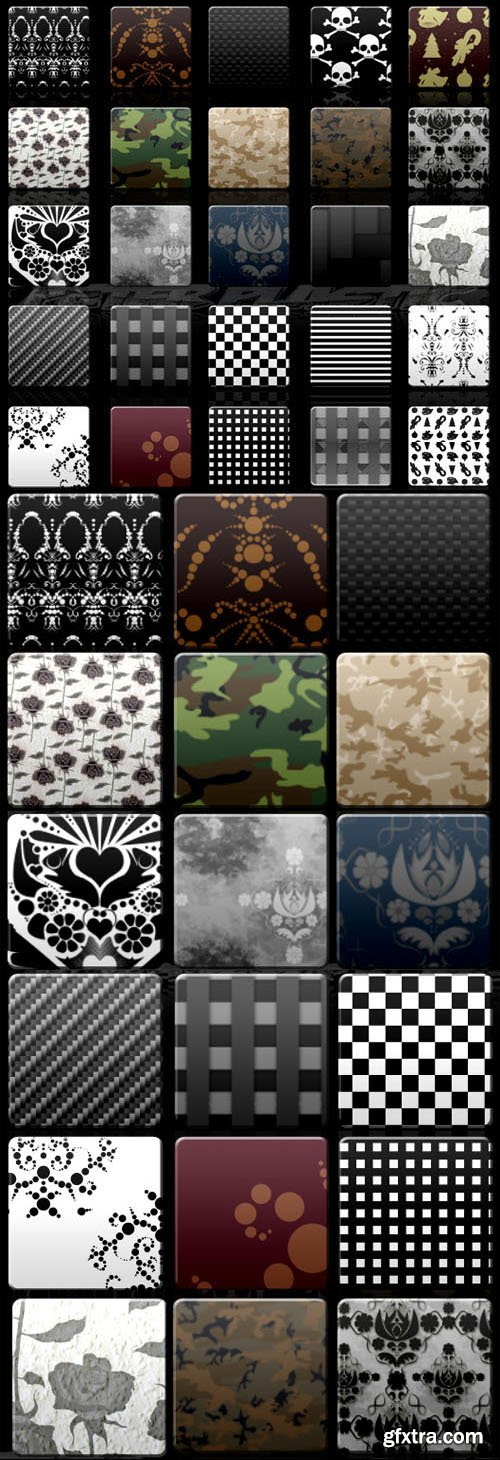72 Patterns Styles Pack for Photoshop