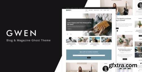ThemeForest - Gwen v1.0 - Blog and Magazine Ghost Theme - 33359645
