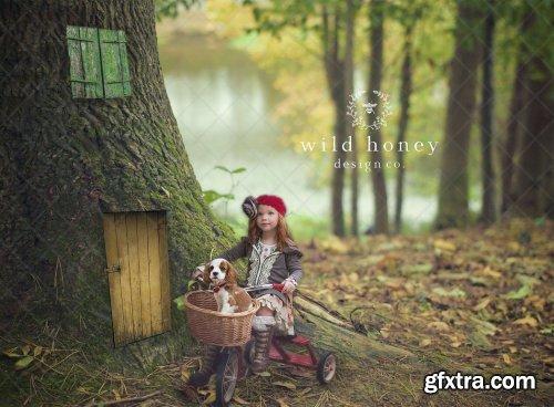 CreativeMarket - Fairy Door Digital Backdrop 4965734