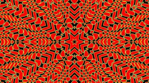 Videohive - Bright abstract light governing full color, kaleidoscope,red background - 33382927 - 33382927