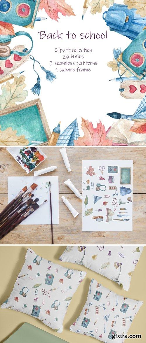 CreativeMarket - Back to school clipart 6290405