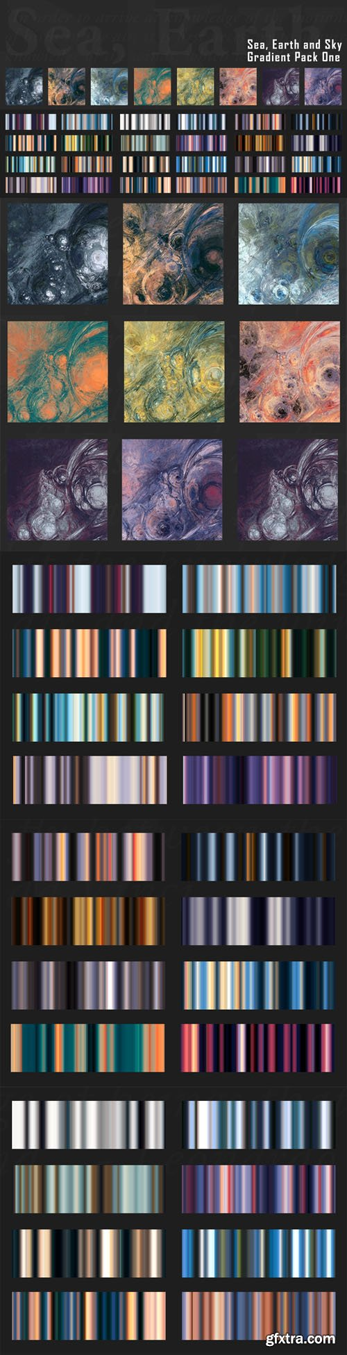 Sea, Earth and Sky - 26 Nature-Inspired Gradients Pack